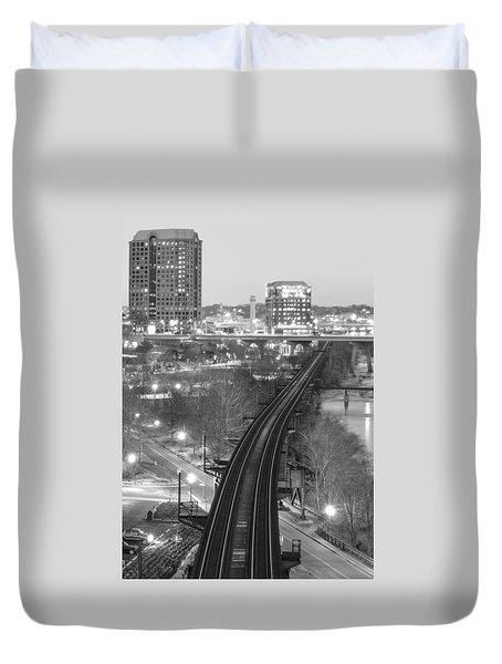 Tracks Into The City Duvet Cover