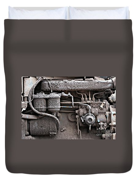Duvet Cover featuring the photograph Tractor Engine II by Stephen Mitchell