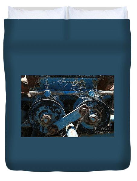 Duvet Cover featuring the photograph Tractor Engine IIi by Stephen Mitchell