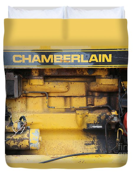 Duvet Cover featuring the photograph Tractor Engine Iv by Stephen Mitchell