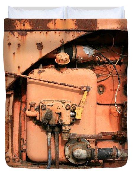Tractor Engine V Duvet Cover