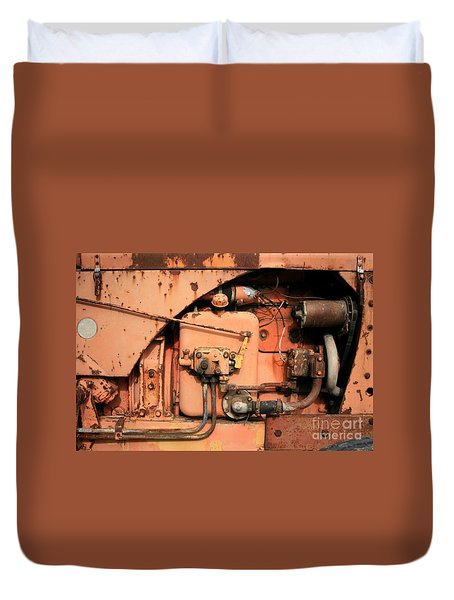 Duvet Cover featuring the photograph Tractor Engine V by Stephen Mitchell