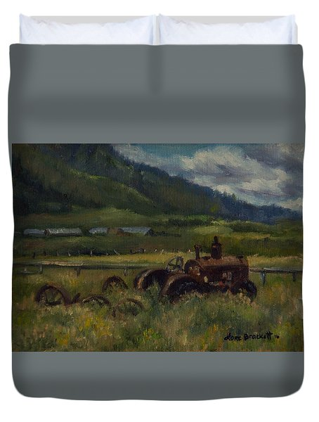 Tractor From Swan Valley Duvet Cover