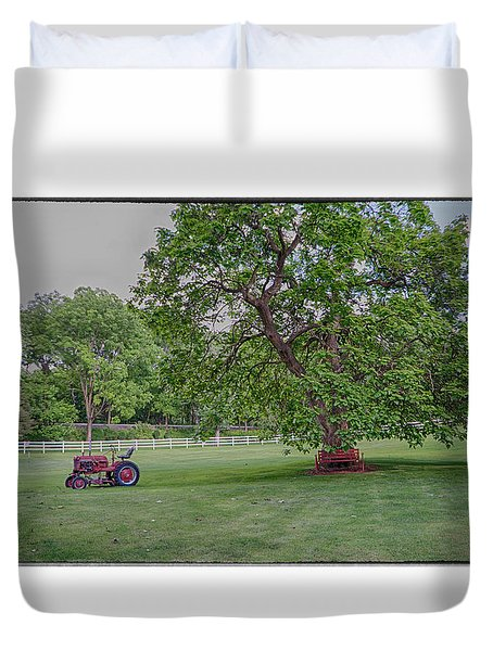Duvet Cover featuring the photograph Tractor by R Thomas Berner