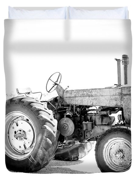 Duvet Cover featuring the photograph Tractor by Silvia Bruno