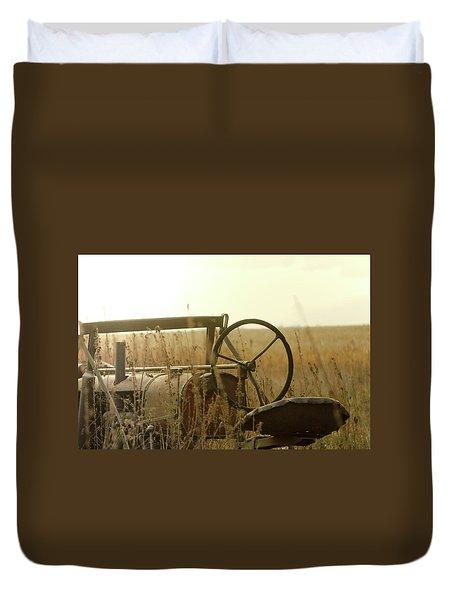 Tractor Sunrise Duvet Cover