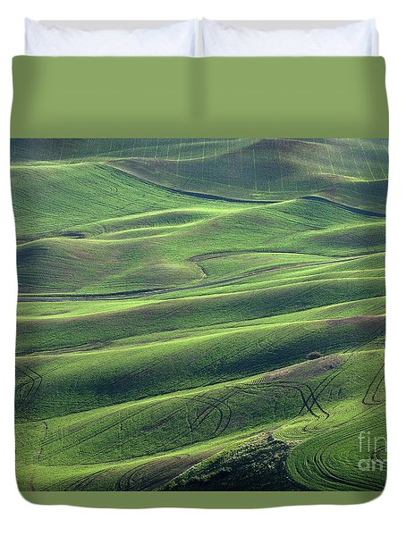 Tractor Tracks Agriculture Art By Kaylyn Franks Duvet Cover