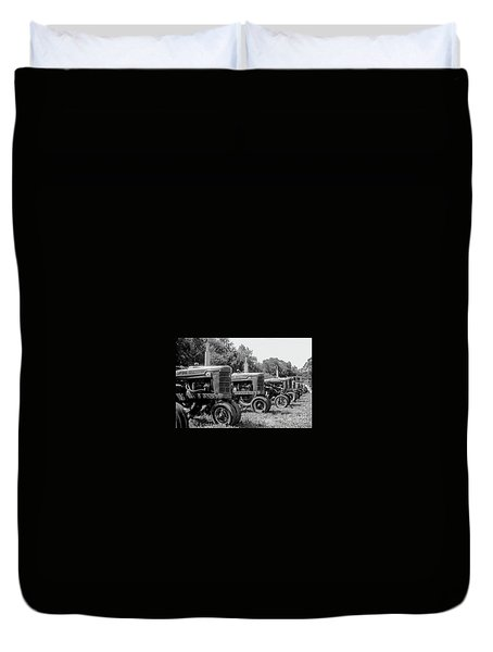 Duvet Cover featuring the photograph Tractors by Brian Jones
