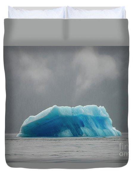 Iceberg - Tracy Arm Fjord Duvet Cover