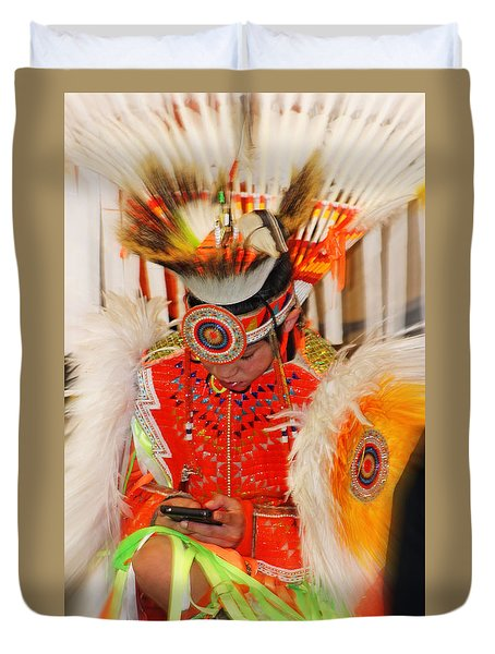 Tradition Meets Technology Duvet Cover