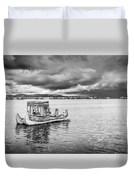 Duvet Cover featuring the photograph Traditional Boat by Gary Gillette