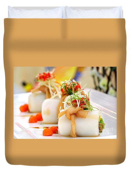 Traditional Chinese Hakka Rice Noodle Roll Duvet Cover