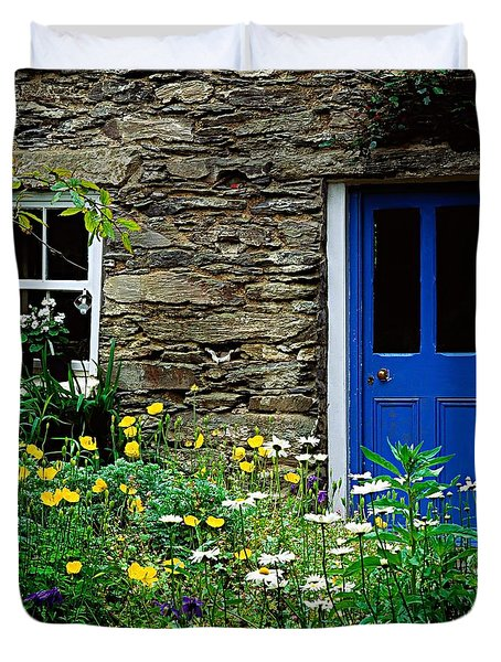 Traditional Cottage, Co Cork Duvet Cover by The Irish Image Collection