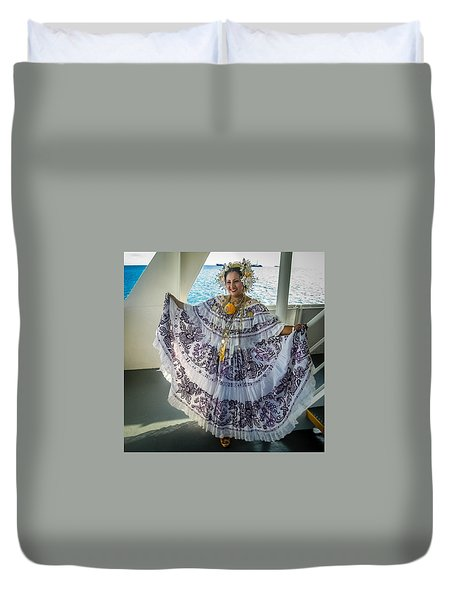 Duvet Cover featuring the photograph Traditional Dress, Lots Of Real Gold by Gregory Daley  PPSA