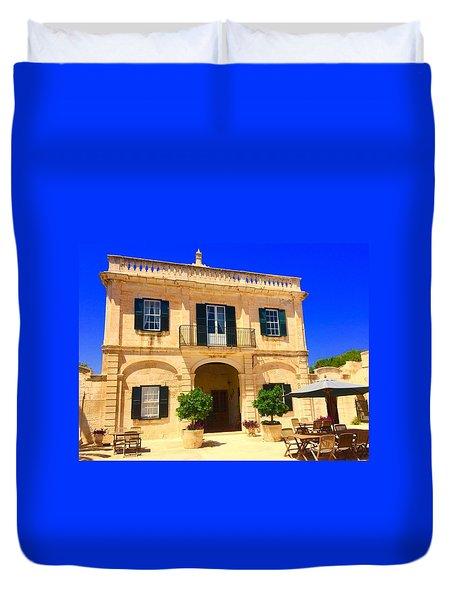Traditional Menorcan Farmhouse Duvet Cover