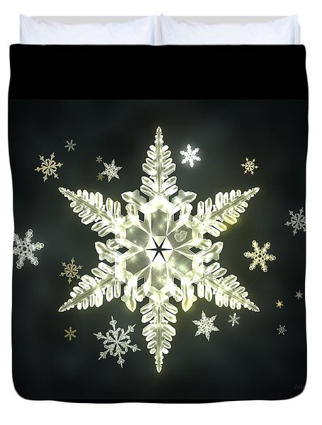 Traditional Sunlight Snowflakes Duvet Cover