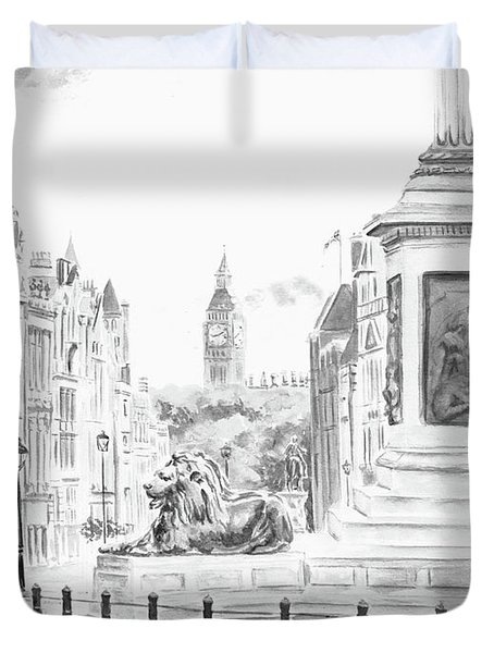 Trafalgar Square II Duvet Cover