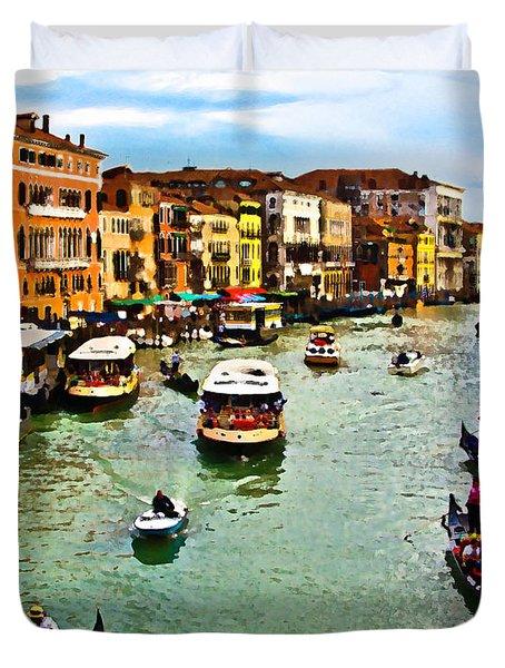 Traghetto, Vaporetto, Gondola  Duvet Cover