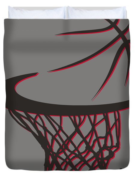 Trail Blazers Basketball Hoop Duvet Cover