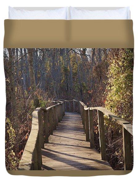 Trail Bridge Duvet Cover