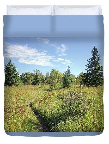Trail In September Meadow Duvet Cover