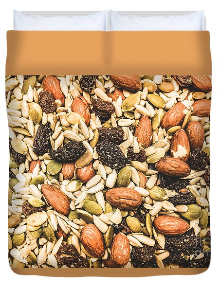 Duvet Cover featuring the photograph Trail Mix Background by Jorgo Photography - Wall Art Gallery