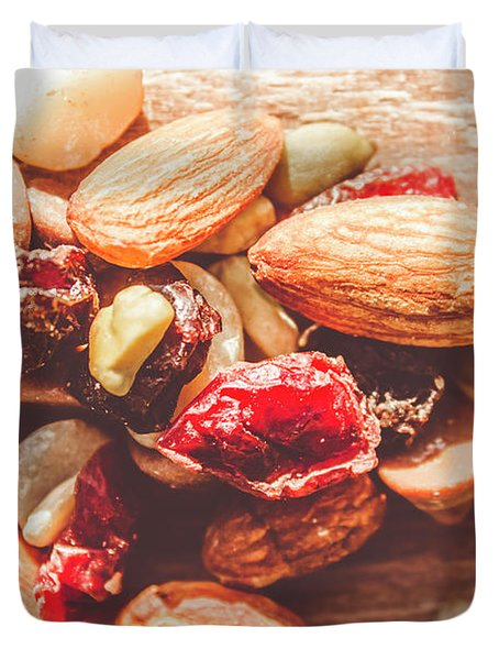 Trail Mix High-energy Snack Food Background Duvet Cover