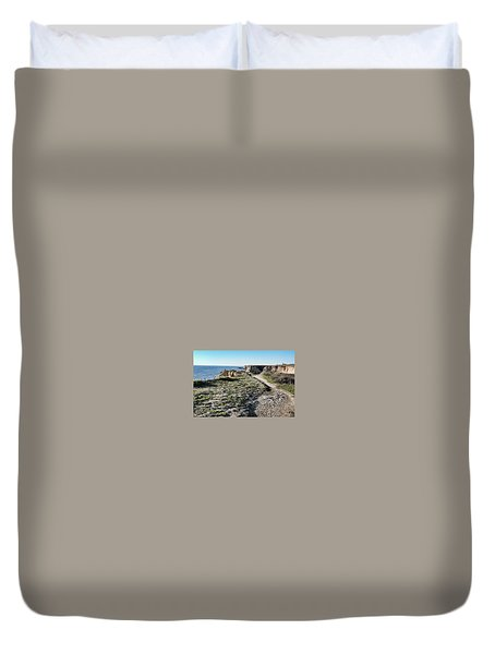 Trail On The Cliffs Duvet Cover