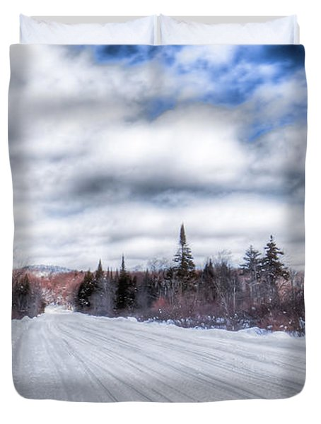 Trail One In Old Forge 2 Duvet Cover