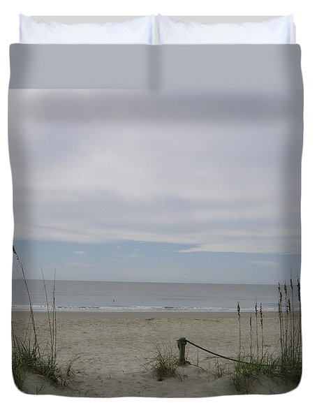 Trail Out To The Sea Duvet Cover by Skyler Tipton