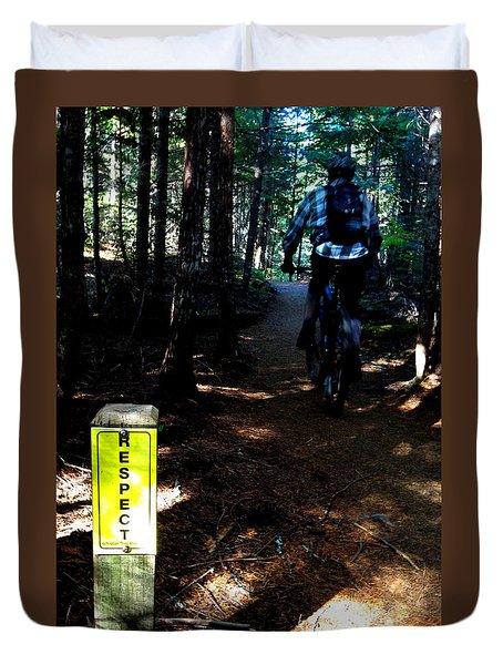 Trail Respect Duvet Cover