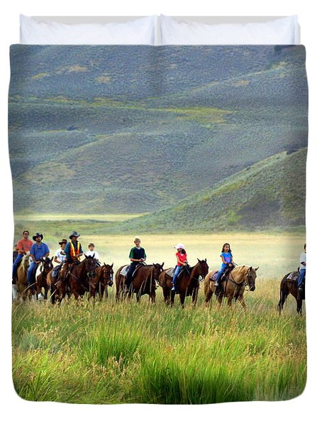 Trail Ride Duvet Cover by Marty Koch