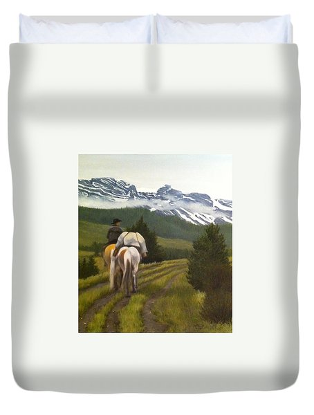 Trail Ride Duvet Cover