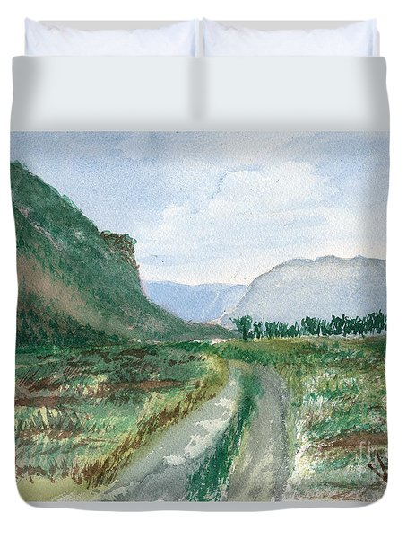 Trail To Canada Duvet Cover
