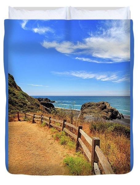 Duvet Cover featuring the photograph Trail To The Lost Coast by James Eddy