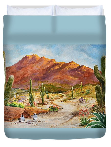 Trail To The San Tans Duvet Cover