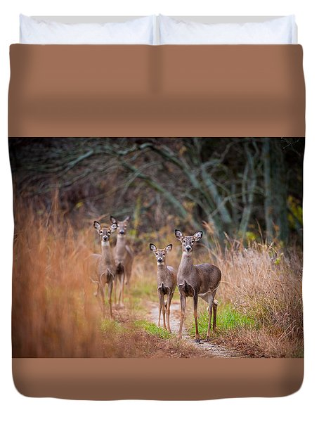 Trail Watchers Duvet Cover