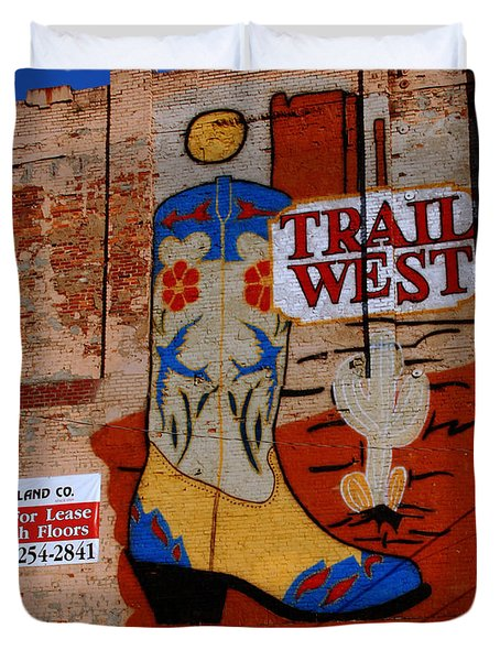 Trail West Mural Duvet Cover by Susanne Van Hulst