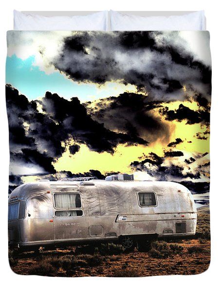 Duvet Cover featuring the photograph Trailer by Jim and Emily Bush