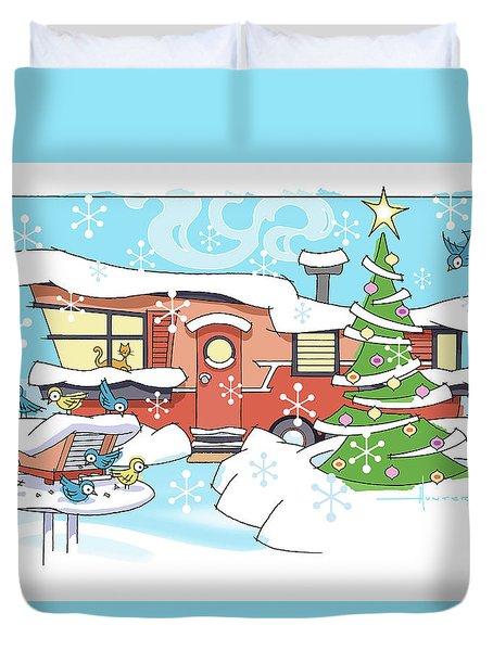 Trailer Park Christmas Duvet Cover