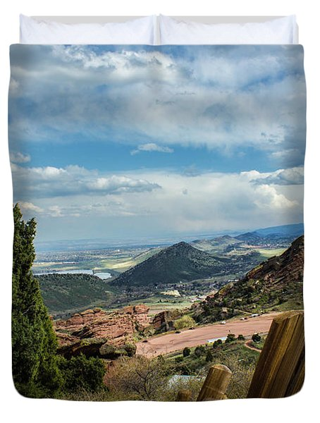 Trails At Red Rocks Duvet Cover