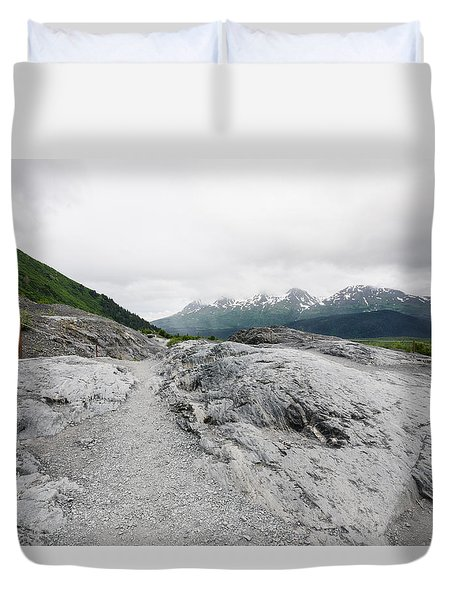 Trails In Alaska Duvet Cover