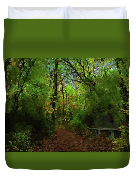 Trailside Bench Duvet Cover