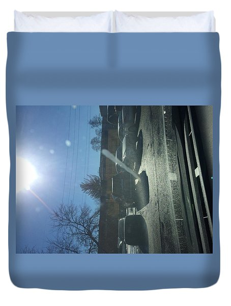 Train At The Ymca Duvet Cover