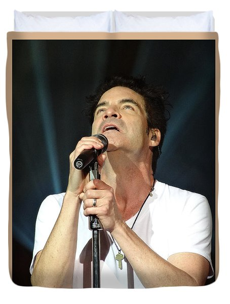 Train's Pat Monahan Duvet Cover by Cindy Manero