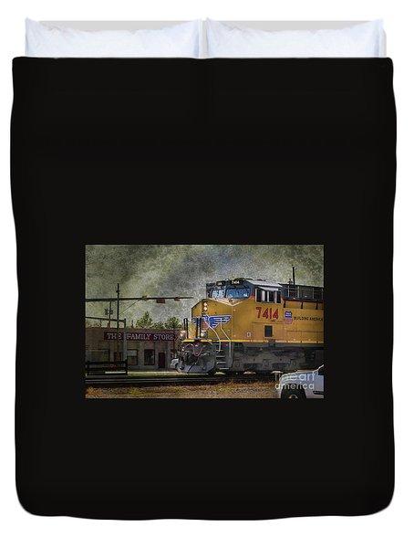 Train Coming Through Duvet Cover