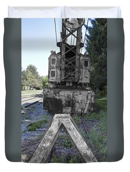 Train Crane 1 Duvet Cover