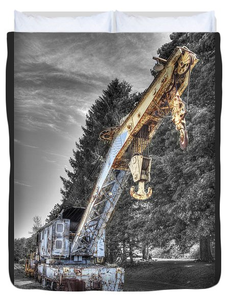 Train Crane 3 Duvet Cover