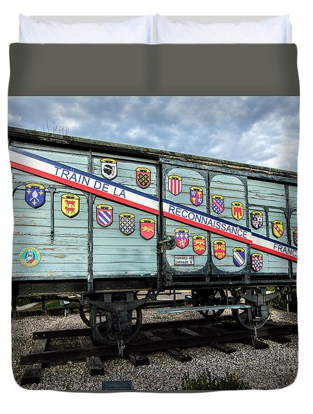 Duvet Cover featuring the photograph Train De La Reconnaissance Francaise - Ogden - Utah by Gary Whitton