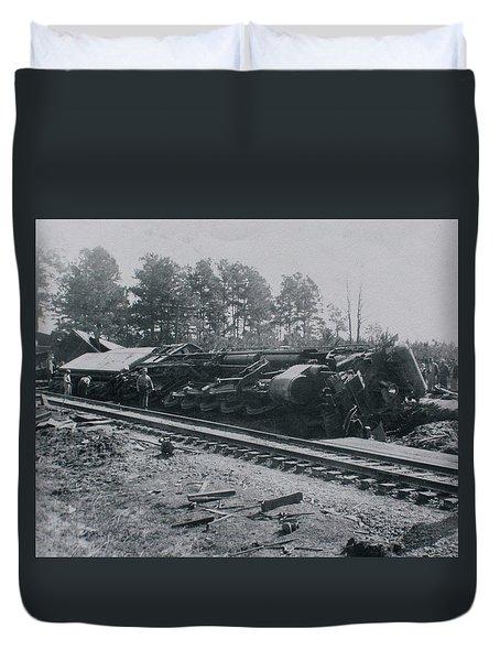 Train Derailment Duvet Cover